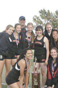 2010 PAL Champs and their trophy with Coaches larios & Canfield