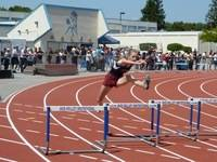 300m Hurdles prelims finds Savanna running to a personnel best as she attempts to qualify for CCS Finals.
