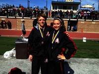 Both athletes rec 2 medals for the finishes in the 1600m & 3200m 4/13/13 @ Serra High meet.